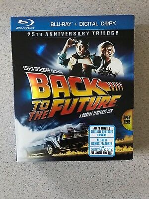 Back to the Future: 25th Anniversary Trilogy (Blu-ray Disc, 2010, 6-Disc Set,