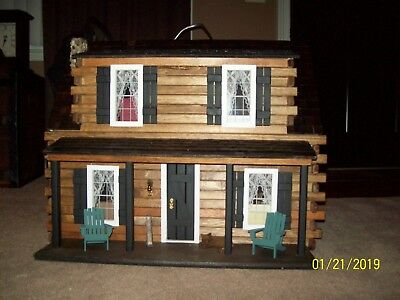 1:12 Scale Dollhouse Miniature Firewood Log Pile in a Wooden Log Stand #SD2319