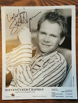 Steven Curtis Chapman signed promotional photo from the  Live Out Loud Concert
