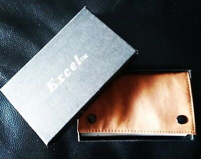 Leather Tobacco Pouch. Vintage Soft Leather Look. In Original Box.