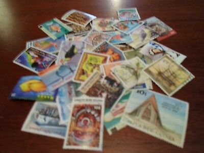 Collection lot 45 different stamps of Papua and New Guinea