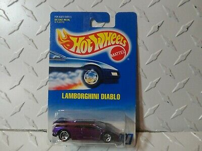 Hot Wheels 227 Light Purple Lamborghini Diablo W 5 Spoke Wheels