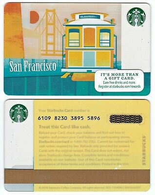2014 Starbucks Coffee San Francisco City Series Gift Card Limited Edition New