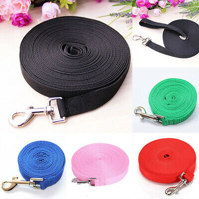 Pet Dog Leash Long Obedience Recall Foot Training Lead 6/15/20/30/50/100ft Call