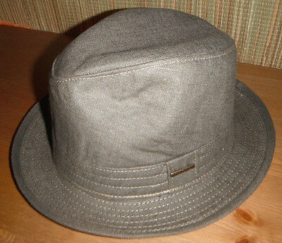 well known new styles cheap price NEW STETSON LINEN FEDORA Hat medium olive Made in USA ...