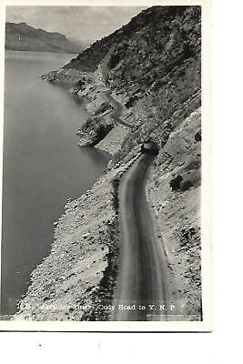 Lakeshore Drive, Tunnel, Cody Road To Y.n.p. Yellowstone,1930'S Photo Post Card