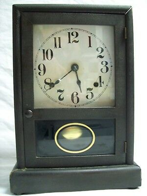 "Antique 1900-05 Seth Thomas ""Cottage"" Shelf/Mantle Chime Clock w/ Key"