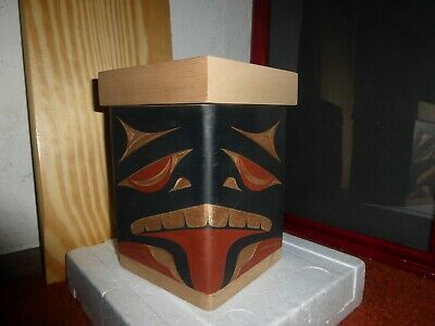 "Northwest Coast Salish Nation Steamed-Bentwood ""Bear"" Box! Must See!"