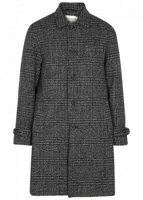 OLIVER SPENCER Men's Beaumont Coat in Charcoal | Size 40 | Made In England
