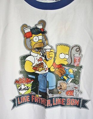 061bb0726 Like us on Facebook · NEW The Simpsons Bart & Homer Beer Hat T-Shirt Blue  Red SMEX Jeans Father's
