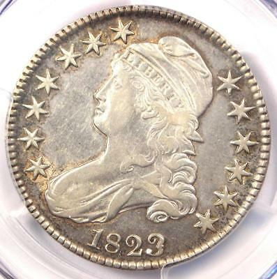 1823 Patched 3 Capped Bust Half Dollar 50C - PCGS XF Details - Rare Variety!