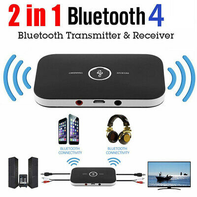 2in1 Bluetooth Transmitter&Receiver Wireless A2DP Home TV Stereo Audio Adapter R