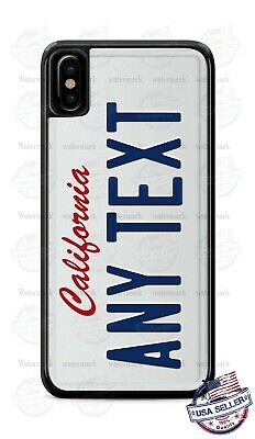 Customize CALIFORNIA License Plate Phone Case Cover Any Text for iPhone Samsung