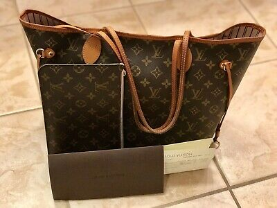 080adf577616 Authentic LOUIS VUITTON Neverfull MM Monogram Tote Bag Rose Ballerine  w Receipt
