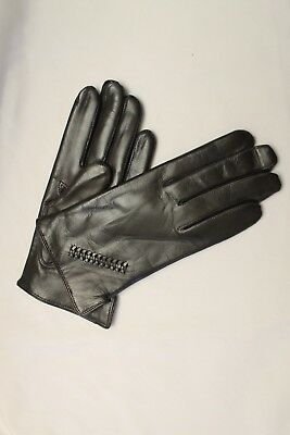 Hungarian Woman Nappa Lambskin Leather Gloves, Made in Hungary, Brown90255
