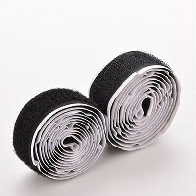 2Rolls/Set 3Ft Strap Hook Loop Self Adhesive Strong Sticky Fastener Tape Great