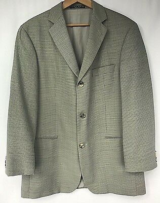 5af3c2820 Hugo Boss Men's Blazer 42S Jacket Sport Coat 100% Virgin Wool Plaid Beige