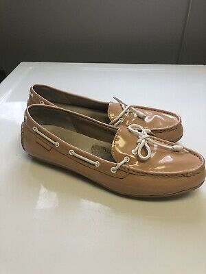 8ff34c384b3c2 COLE HAAN Grand OS Women's Driving Loafers Beige Leather Moccasins Size ...