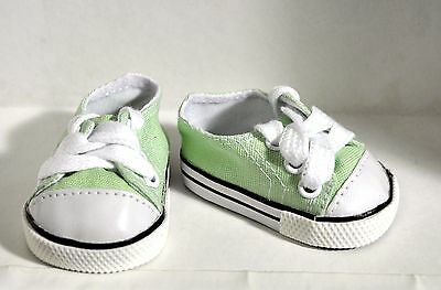 "Our Generation American Girl Gotz 18"" Dolls Clothes Shoes Green Sneaker Runners"