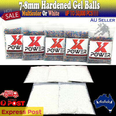 7-8mm 50,000 Hardened GEL BALLS  Ammo 7mm-8mm For M4A1 More Blaster Toy Plant AU