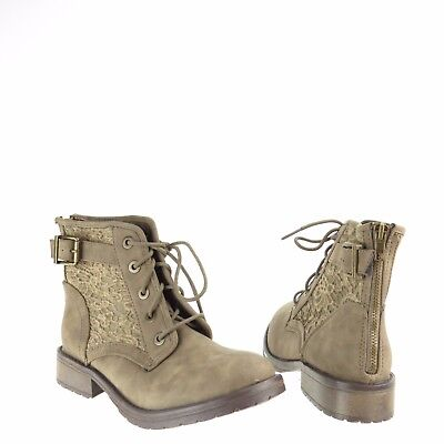 672f51603a2 Girls Steve Madden Jhale Shoes Green Synthetic Combat Lace Up Boots Size 5  M NEW