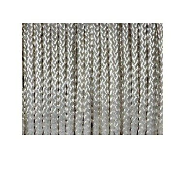 Braided Polyester Cord Metallic Ivory Various Lengths Available 6Mm Decorative