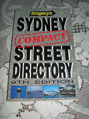 Vintage Gregory's Compact Sydney Street Directory ~ 9Th Edition ~ 1991