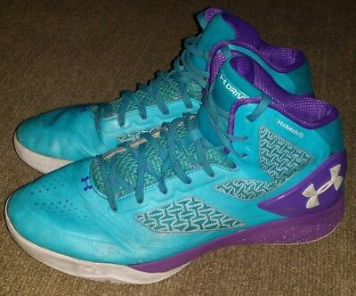 super popular 4d4a1 433e5 Under Armour Clutchfit Drive Charged Basketball Shoes Blue Purple Men s  Size 11