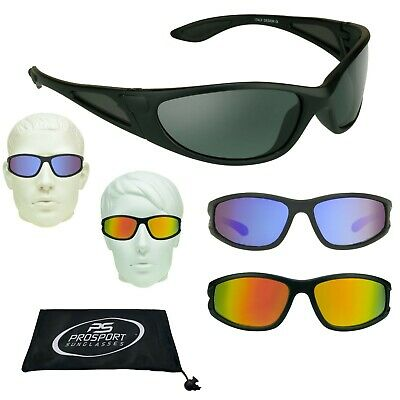 FLOATING Polarized Mirrored Fishing Sunglasses Side Shield Wrap Boating Jet Ski