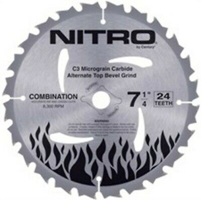 "Blade,6.5"" 40t Nitro by CENTURY DRILL & TOOL CO., INC"
