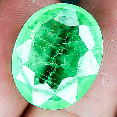 19.43 Cts World's Largest Vivid Green Natural Emerald Loose Gemstone