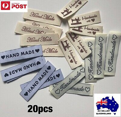 WOVEN LABELS 20pcs, Mixed Lot,Clothing Label, DIY, Cloth Label, Handmade, Sew On