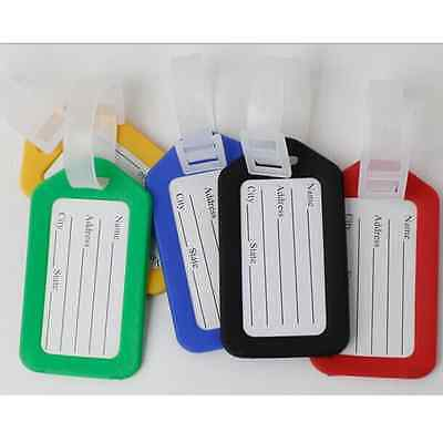2pcs Tags Labels Strap Name Address ID Suitcase Bag Baggage Travel Luggage Nice