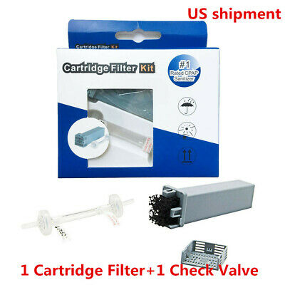 US Cartridge Filter Kit for SoClean 2 (SC1200) Cartridge Filter with Check Valve
