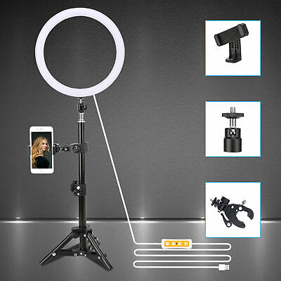 """Zomei 10"""" LED Ring Light Tabletop light Dimmable lighting for Camera Photography"""