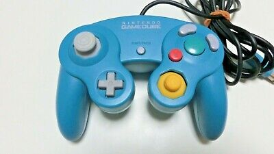 Used Nintendo Official GAMECUBE Wii Controller GC Pad Emerald Blue from Japan