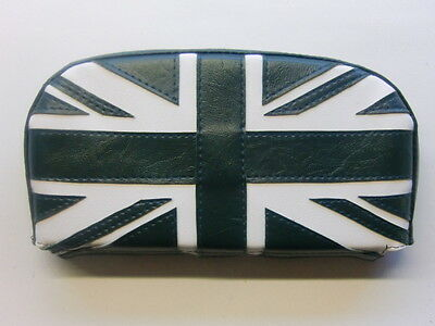 British Racing Green/ Cream Union Flag Scooter Back Rest Cover (Purse Style)