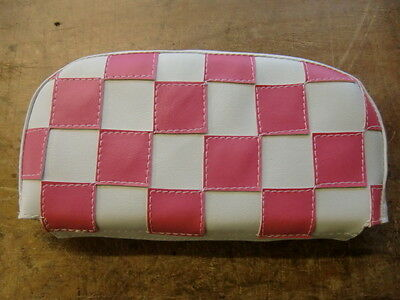 Pink/White Check Scooter Back Rest Cover (Purse Style)