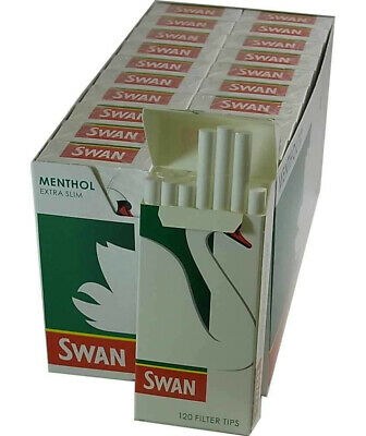New Swan Menthol Extra Slim Filter Tips 5X120= 600 Filters