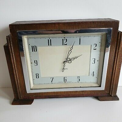 Smiths Vintage Art Deco 8-Day Mantel Clock