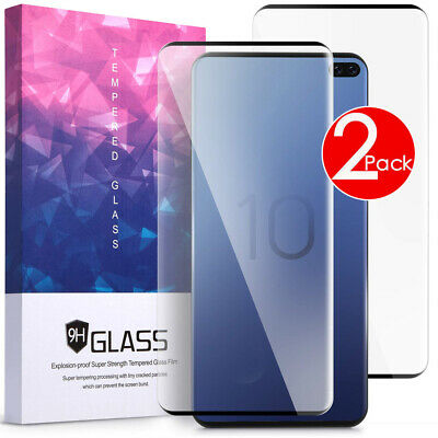 2 PACK Tempered Glass Friendly Screen Protector For Samsung Galaxy S10e S10 5G
