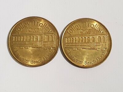 JOLLEY TROLLEY TOKENS - Clearwater Beach FLORIA - x2