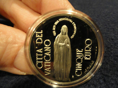 2004 Vatican City 5 Euro Silver Coin Immaculate Conception Vaticano Proof