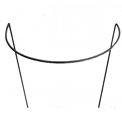 10 x 45 cm wide. Steel HANDMADE Ready to Rust Style Curved Plant Supports