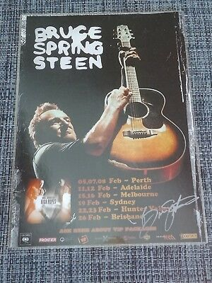 Bruce Springsteen - 2014 Australia Tour Poster - Signed Autographed - Laminated