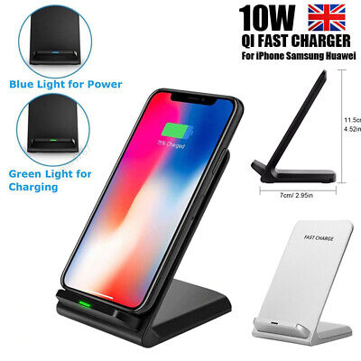 Fast Qi Wireless Charger Dock For iPhone X 8 Plus XR XS Samsung S8 S9 S10+ Note9