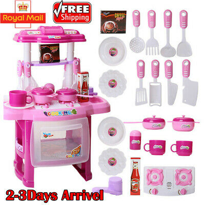 Kitchen Cooking Toys Girls Portable Electronic Children Kids Cooker Play Set UK
