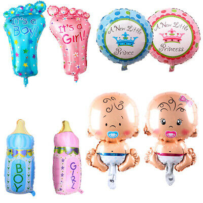 4pcs Boy Girl Foil Helium Balloon Newborn Baby Shower Christening Birthday Party