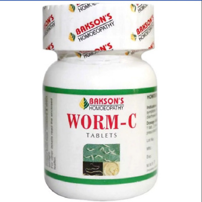 Bakson Worm C Tablets - 75tab Helps Deworming of all Kings of Worms with Pain