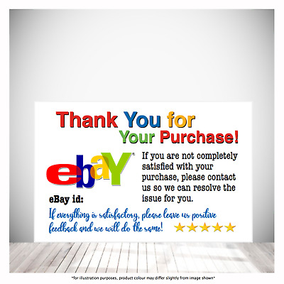 100 250 500 Gloss 250g Double Sided eBay Id Feedback Cards FREE Shipping